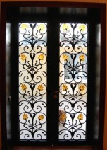 Door to the winter garden. Smithery, art glass