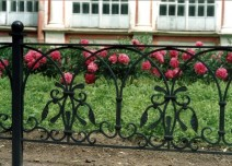 Fence of the flower garden in Holy Trinity Alexander Nevsky Lavra. Saint-Petersburg